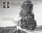 Santa Fe Steam Vol 16: 3400 - 3500 series 4-6-2 Pacifics & 4-6-4 Hudsons